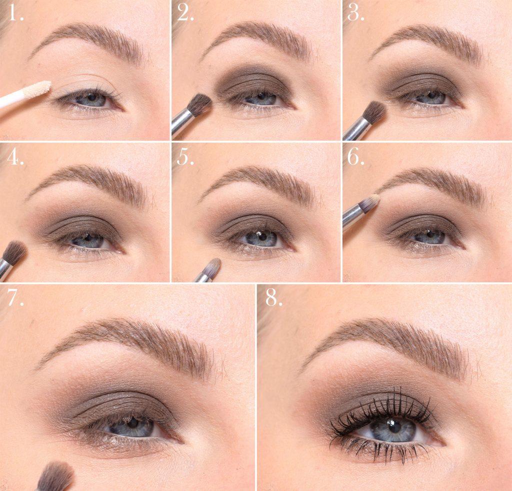 brown makeup step by step