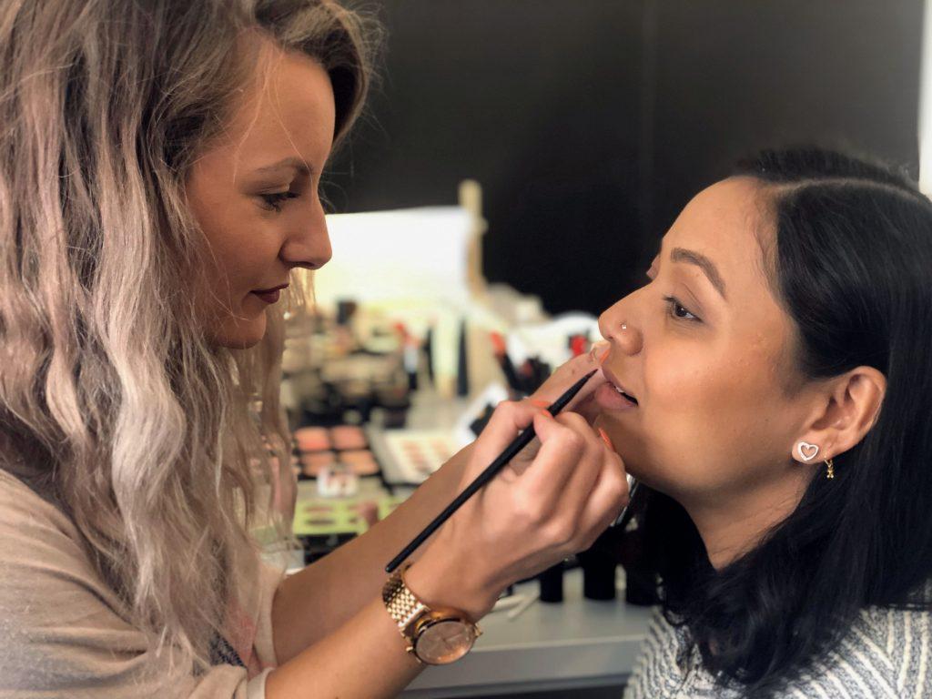 self-taught makeup artist or makeup training