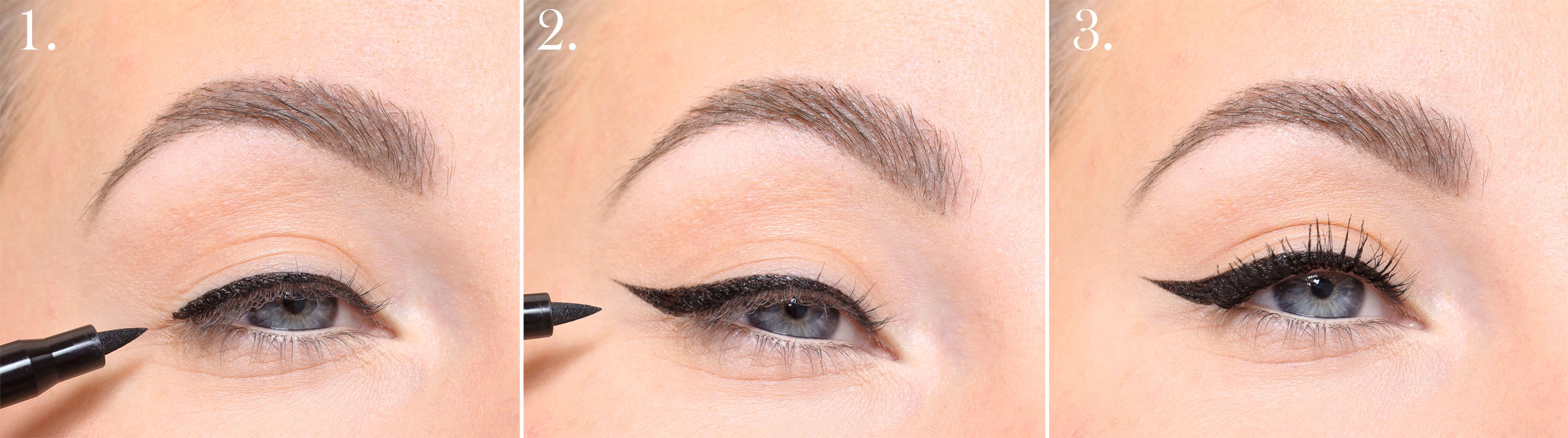 sharp eyeliner step by step