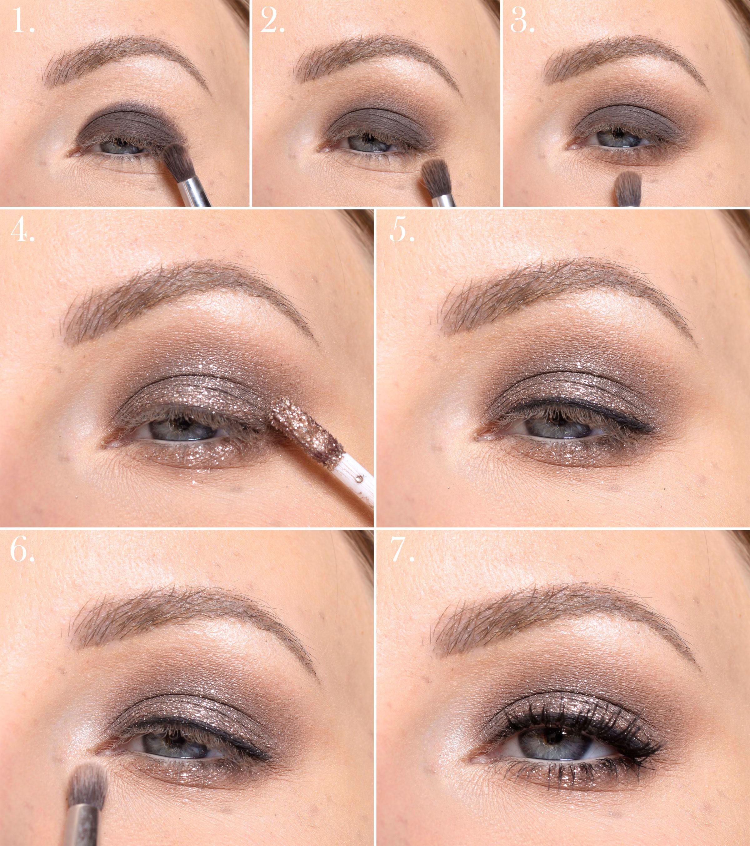 Maquillaje de brillo marrón - paso a paso