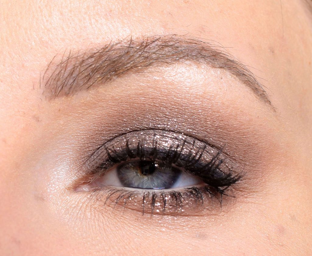 brown New Year makeup step by step