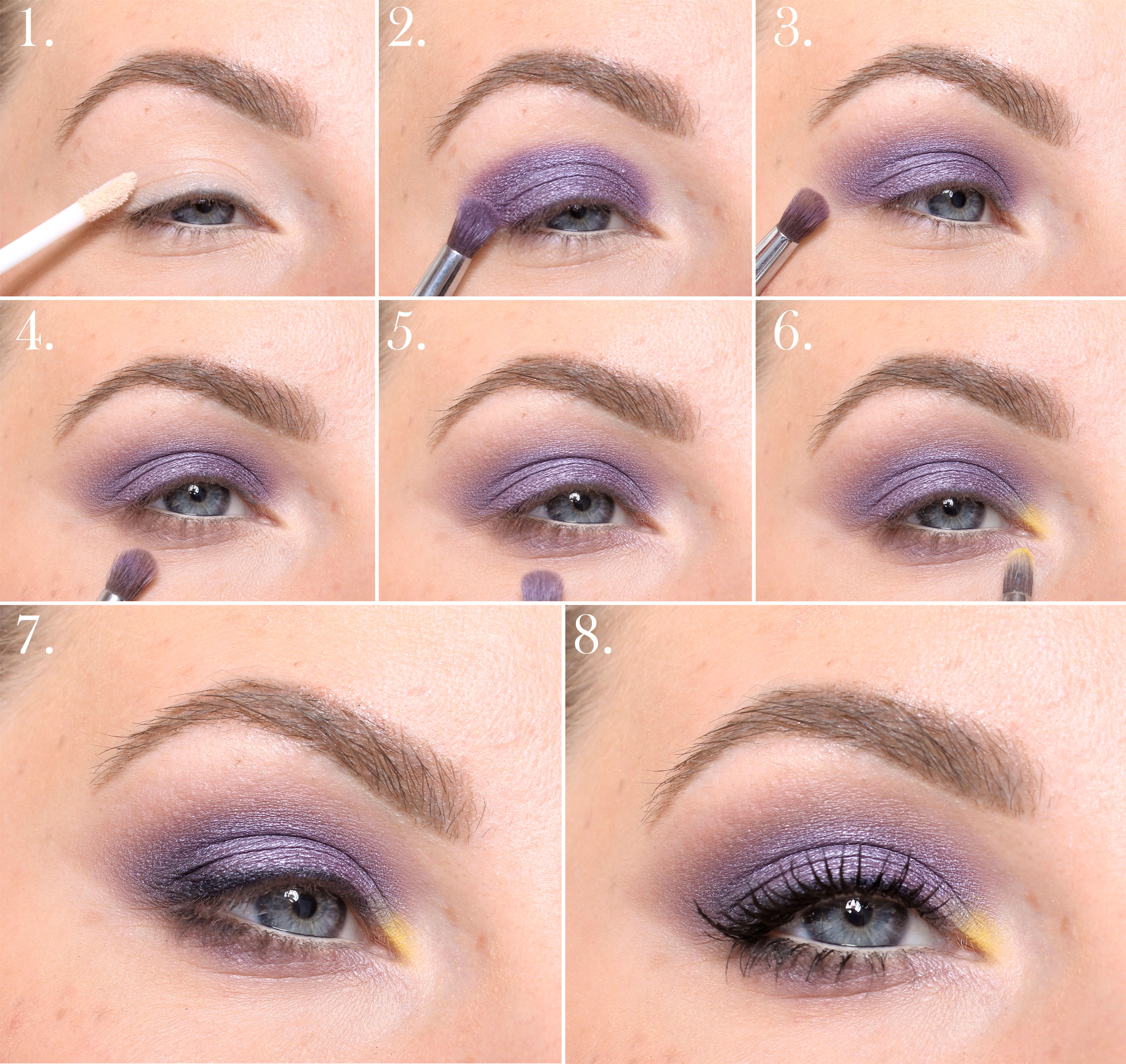 colorful makeup step by step