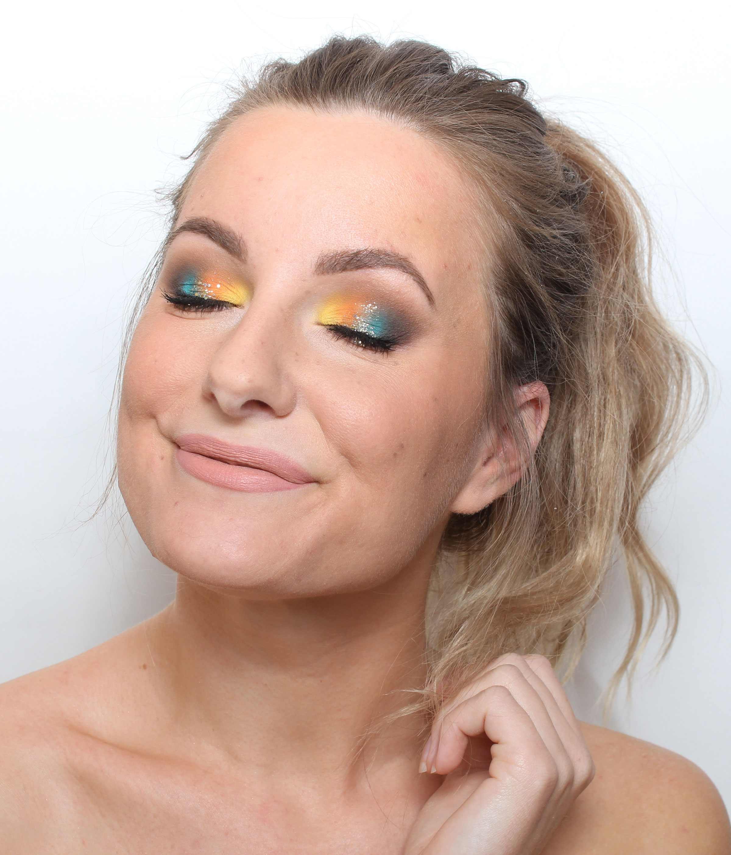 glitter makeup step by step
