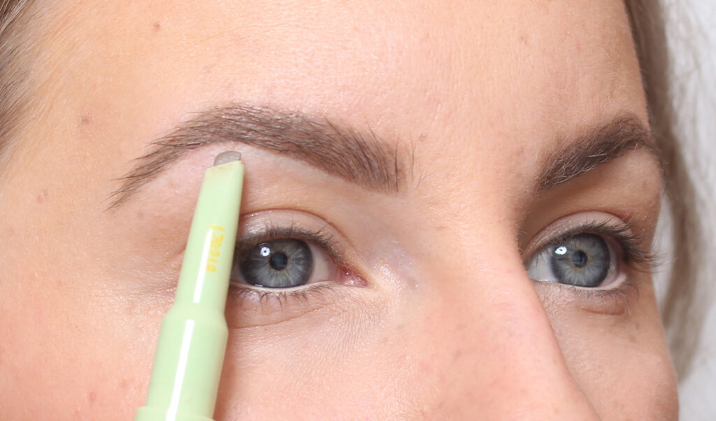 paint with eyebrow pencil