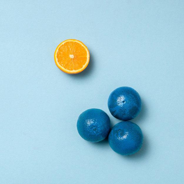 komplementfärg till blå orange