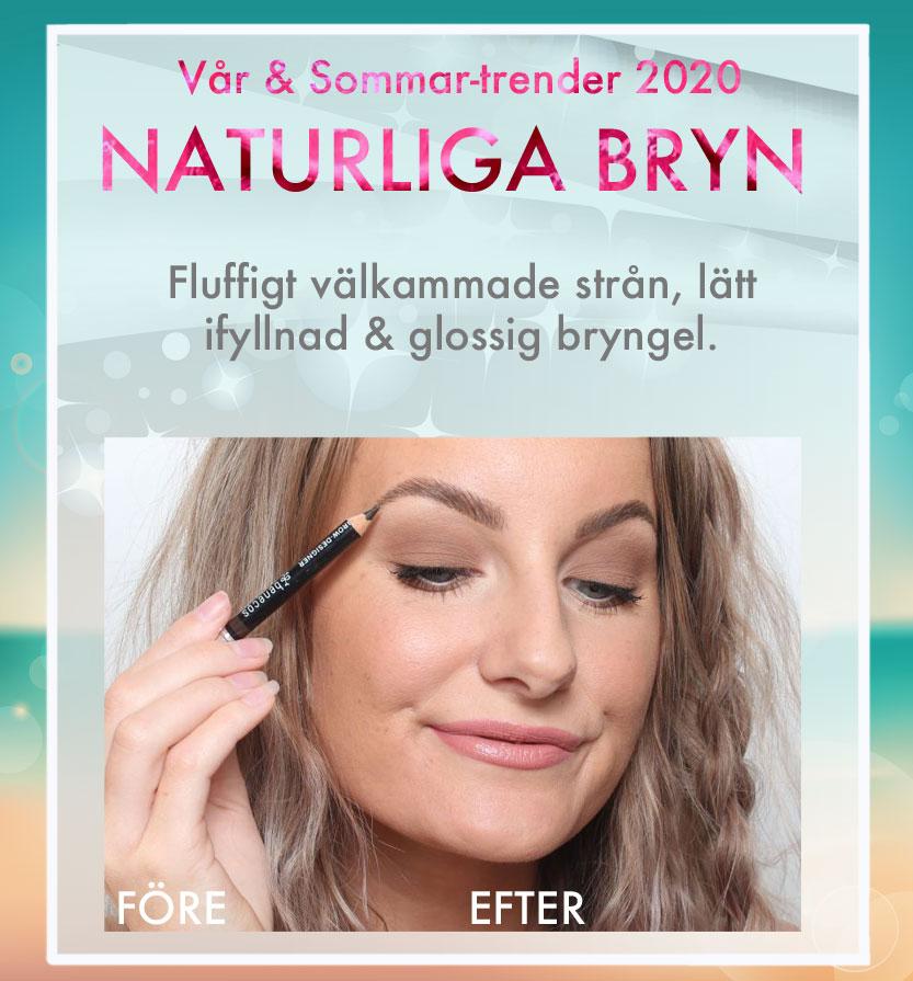 Tendencias de maquillaje cejas naturales