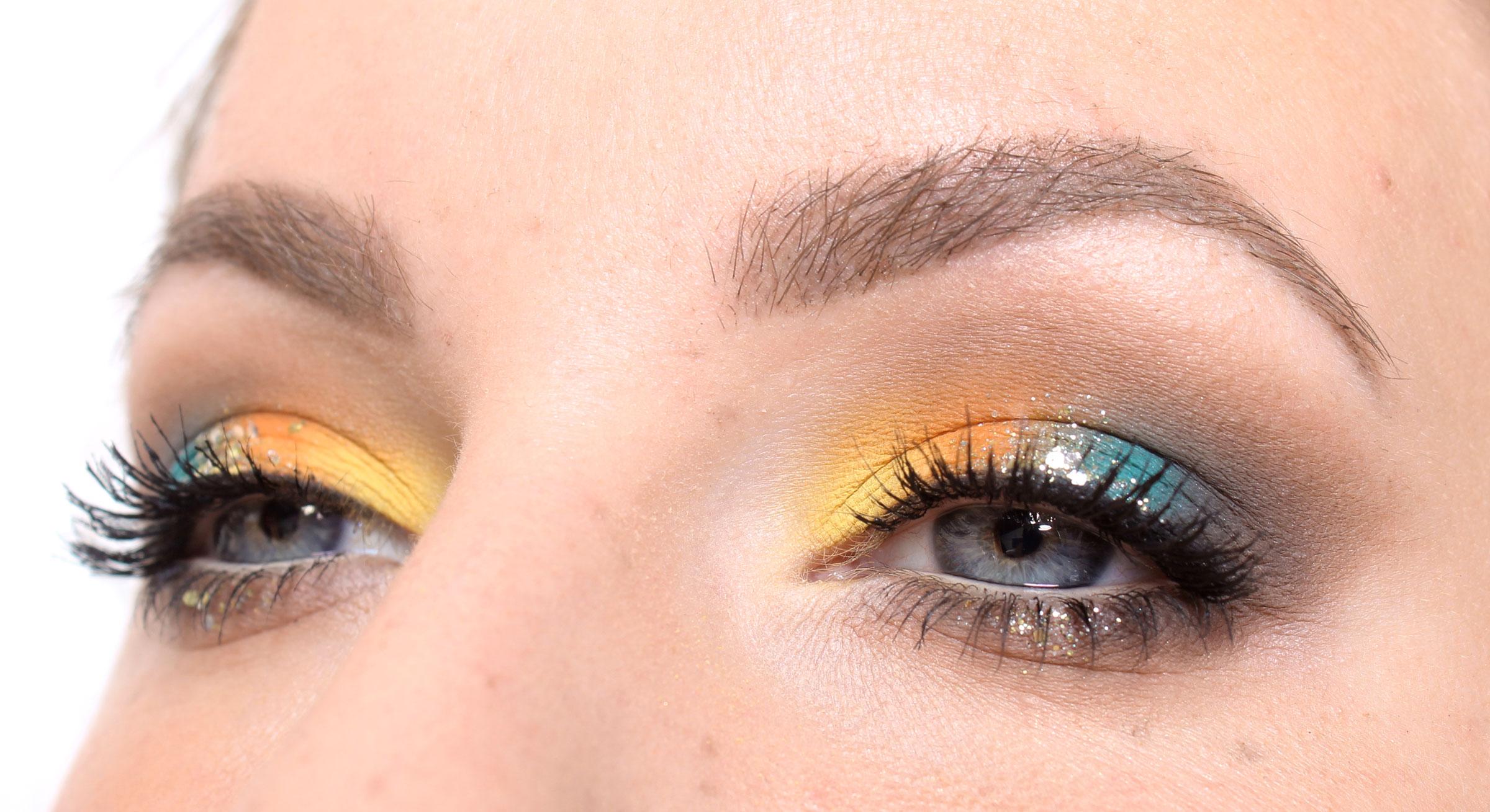 glitter makeup eyes