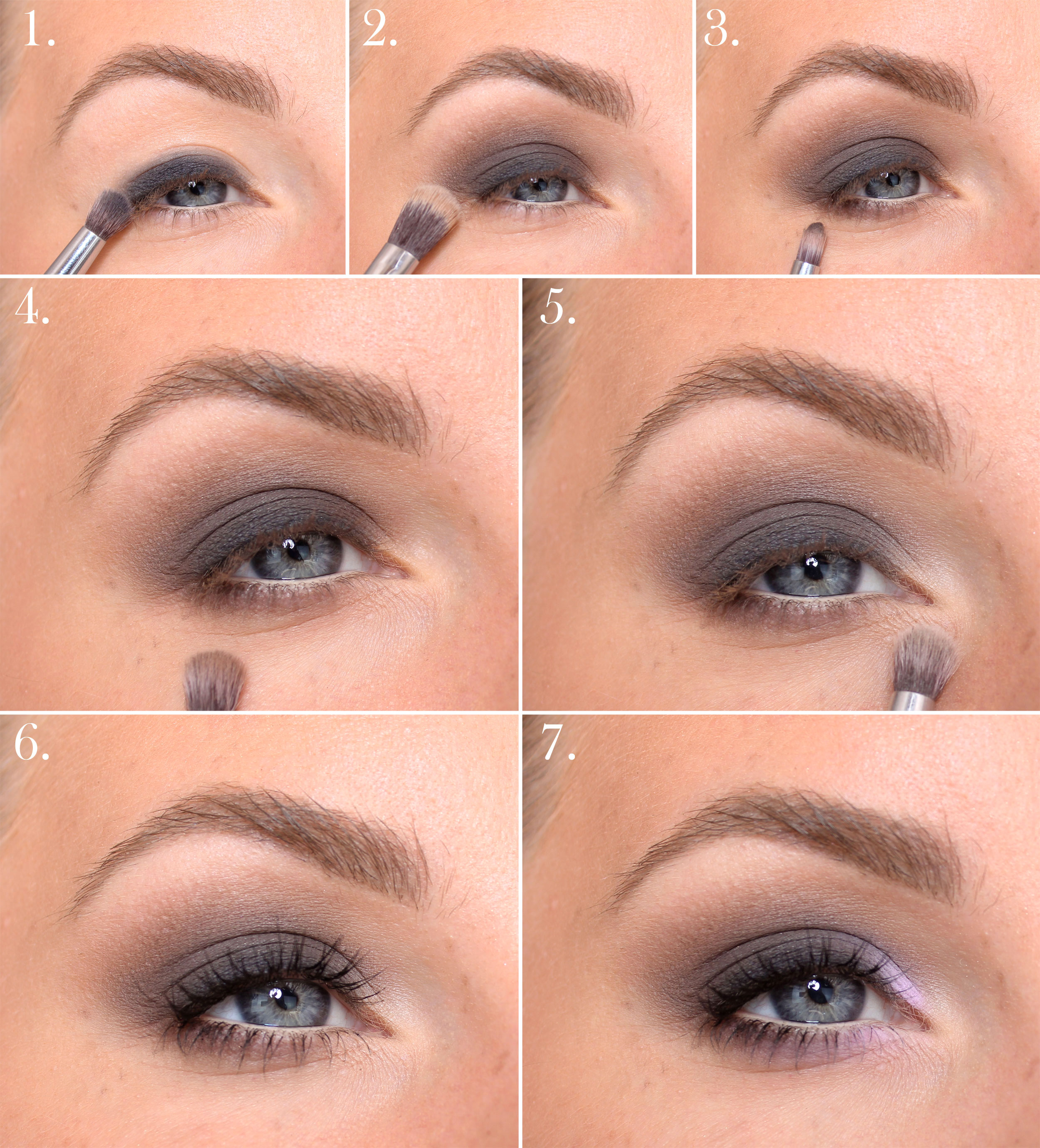 glam smokey eyes step by step