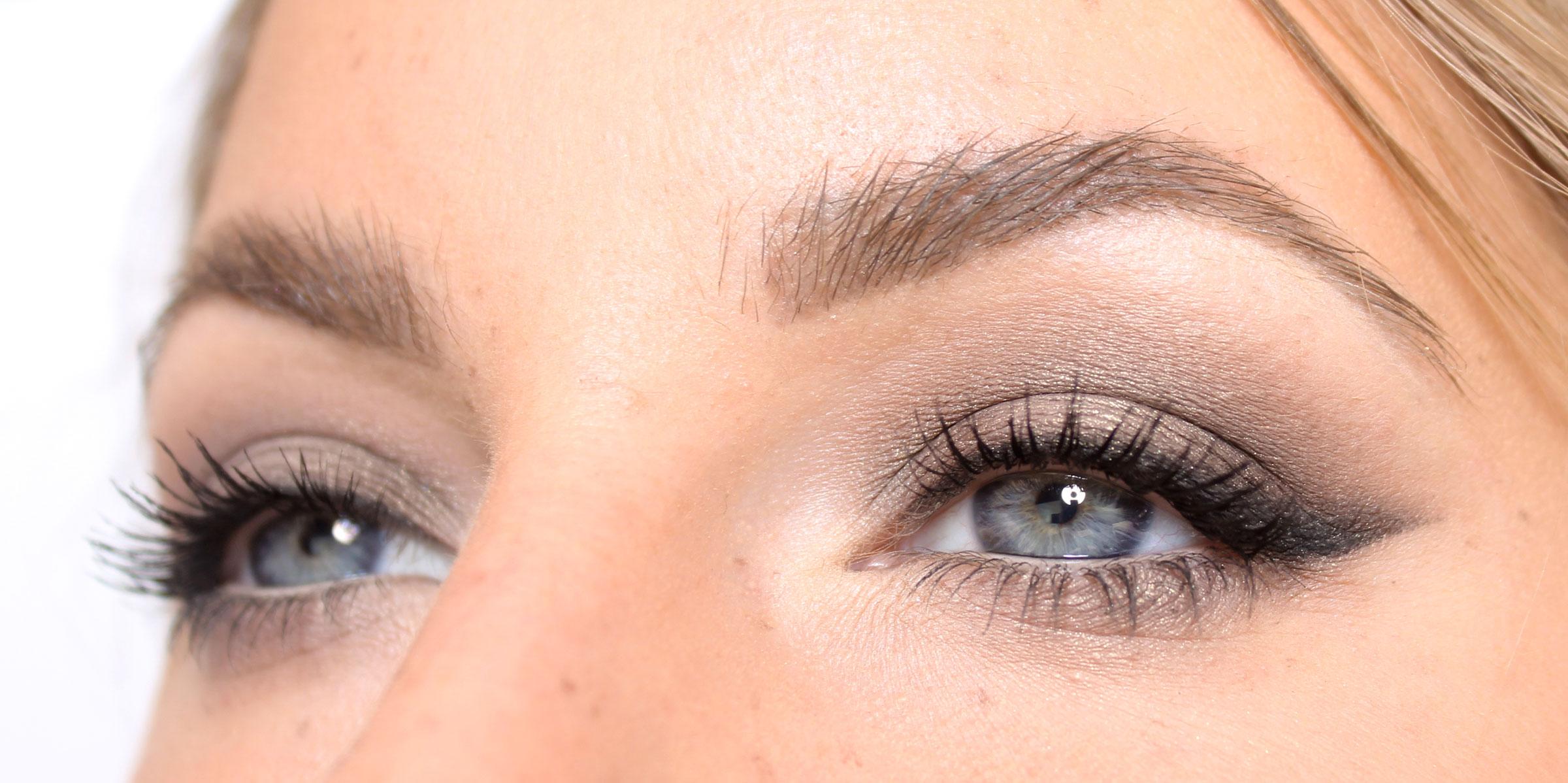 Ojos de maquillaje de ojos neutros