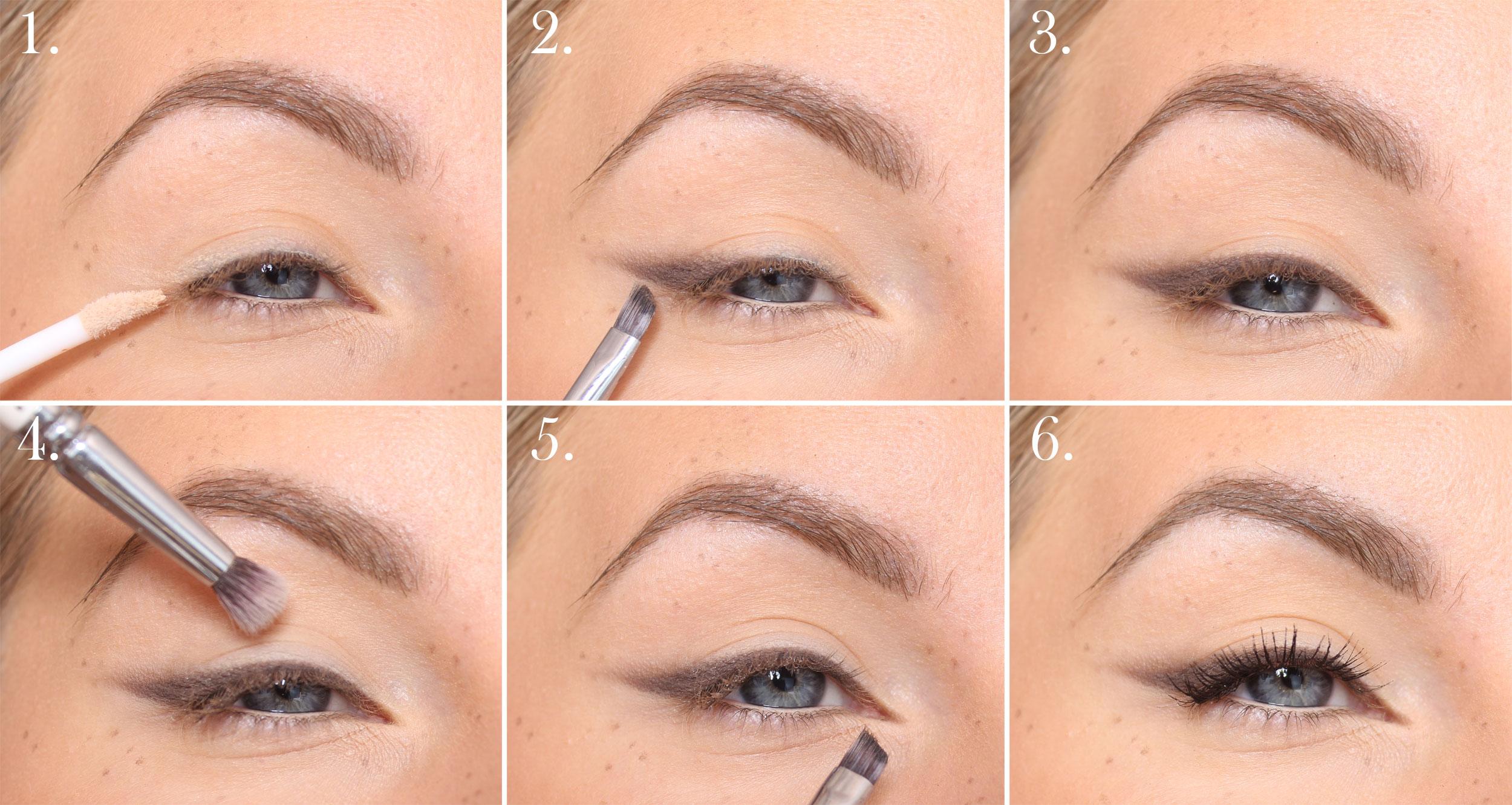 Brun sotad eyeliner steg för steg