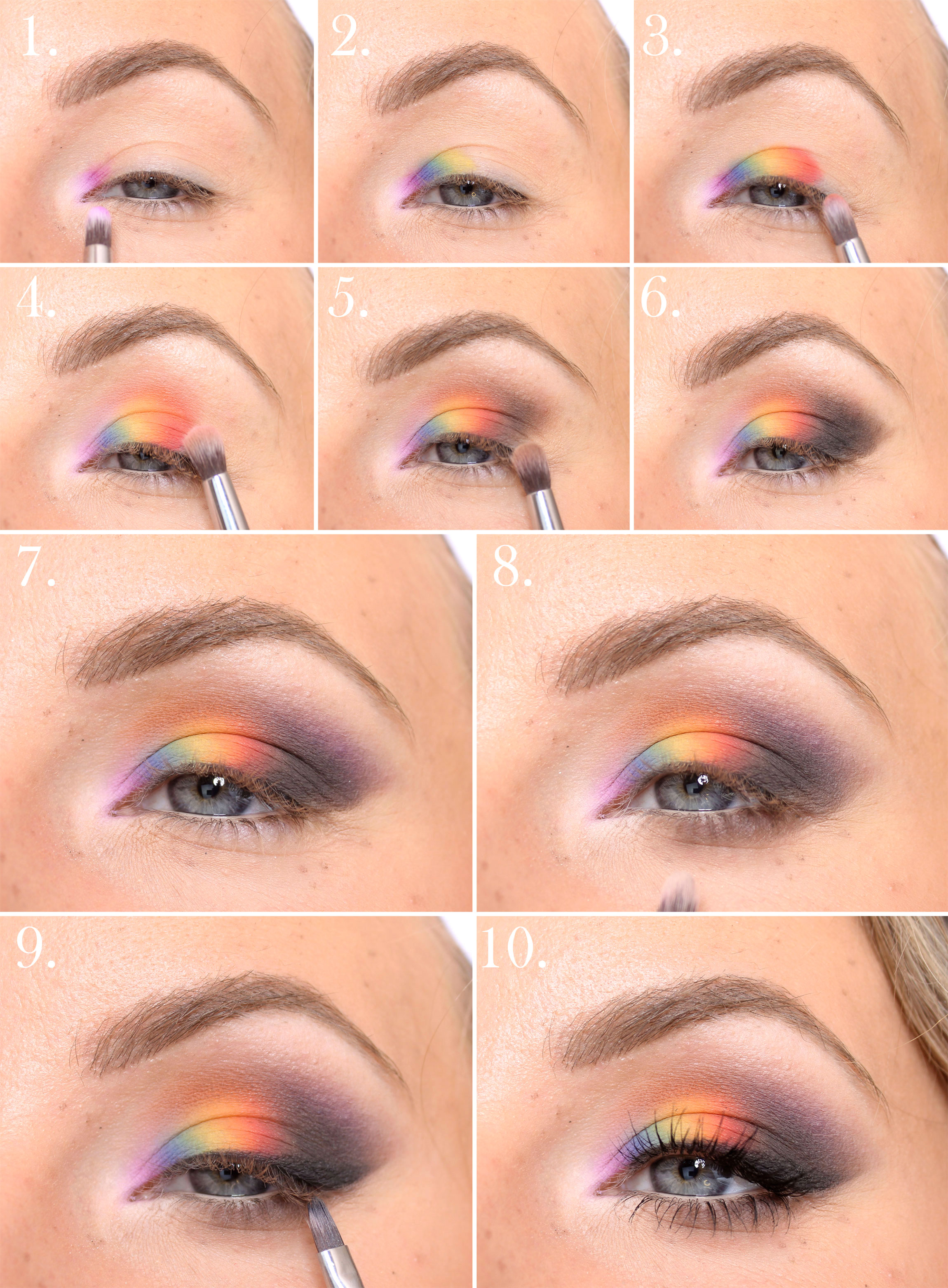 pride makeup Rainbow makeup tutorial