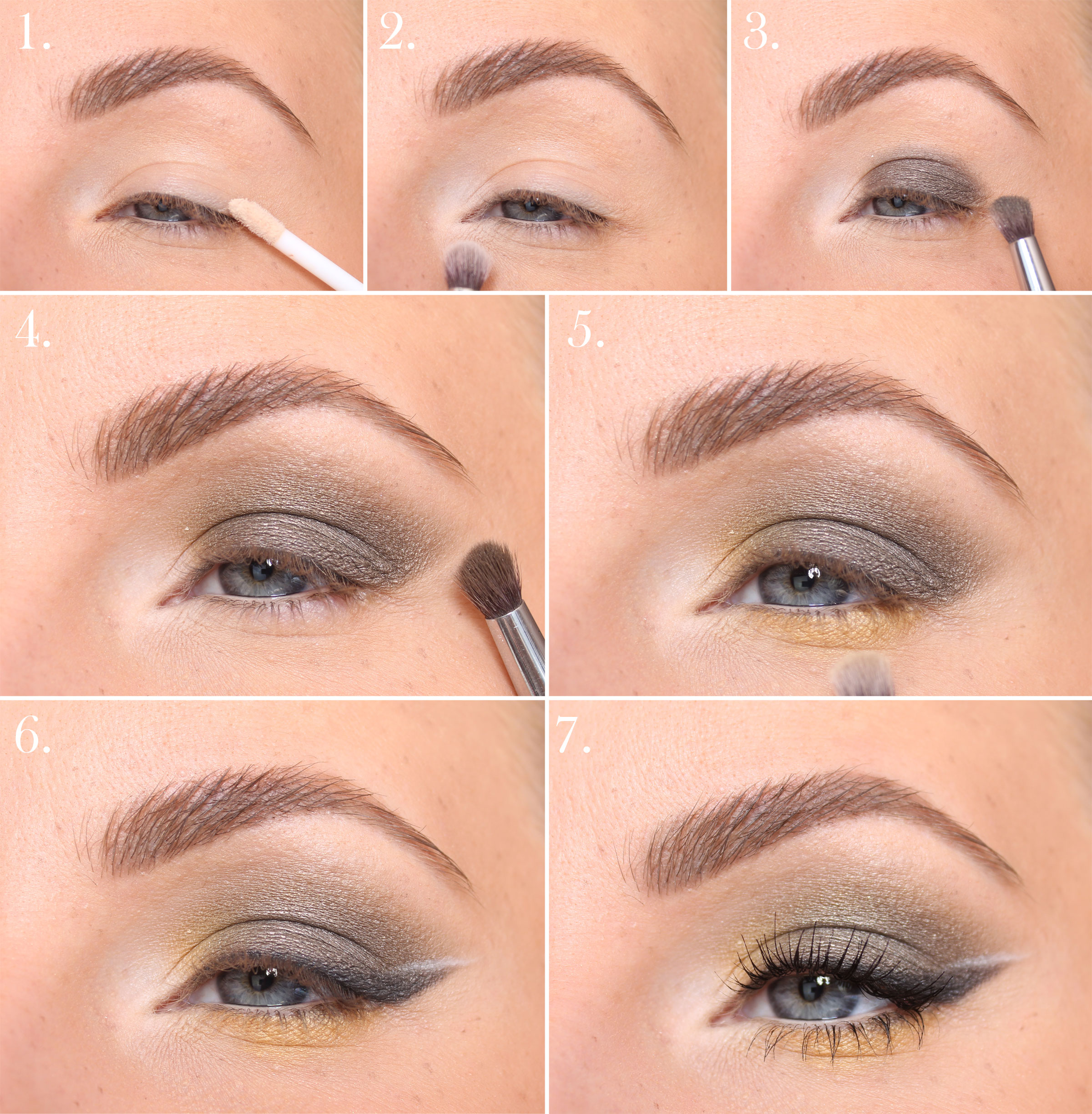 yellow makeup step by step