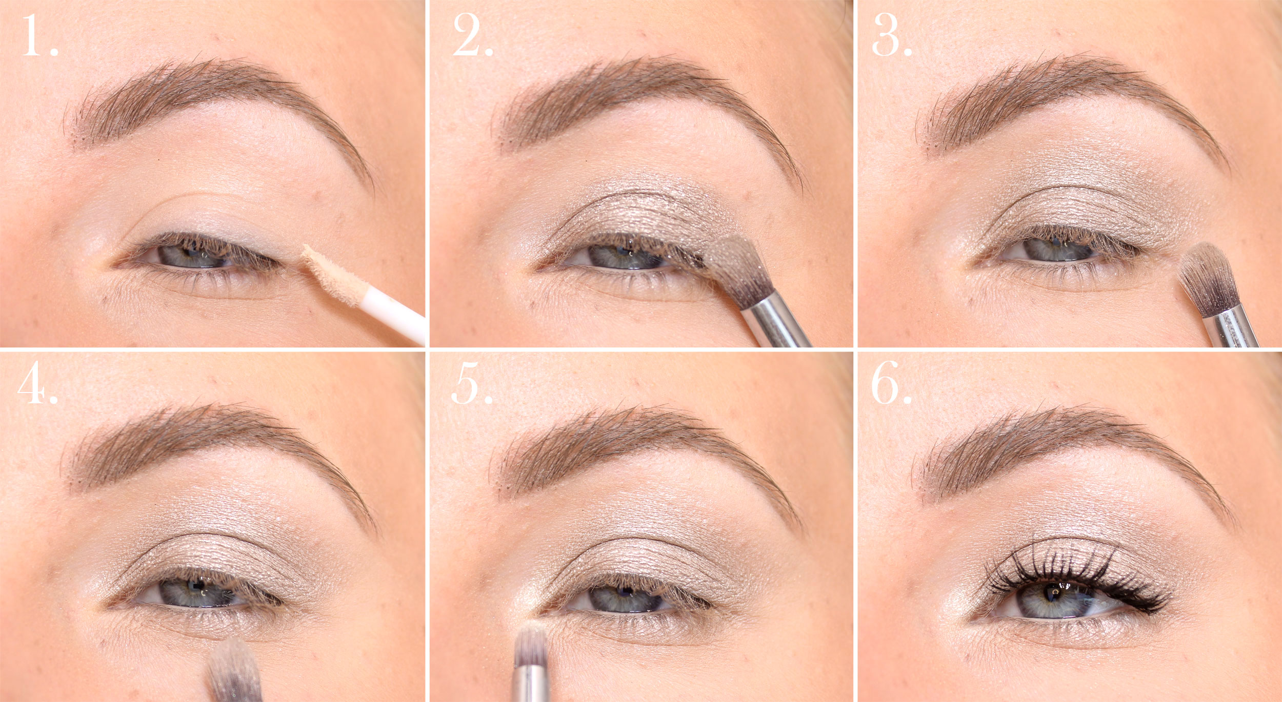 step by step paese Sparkle Eyeshadow