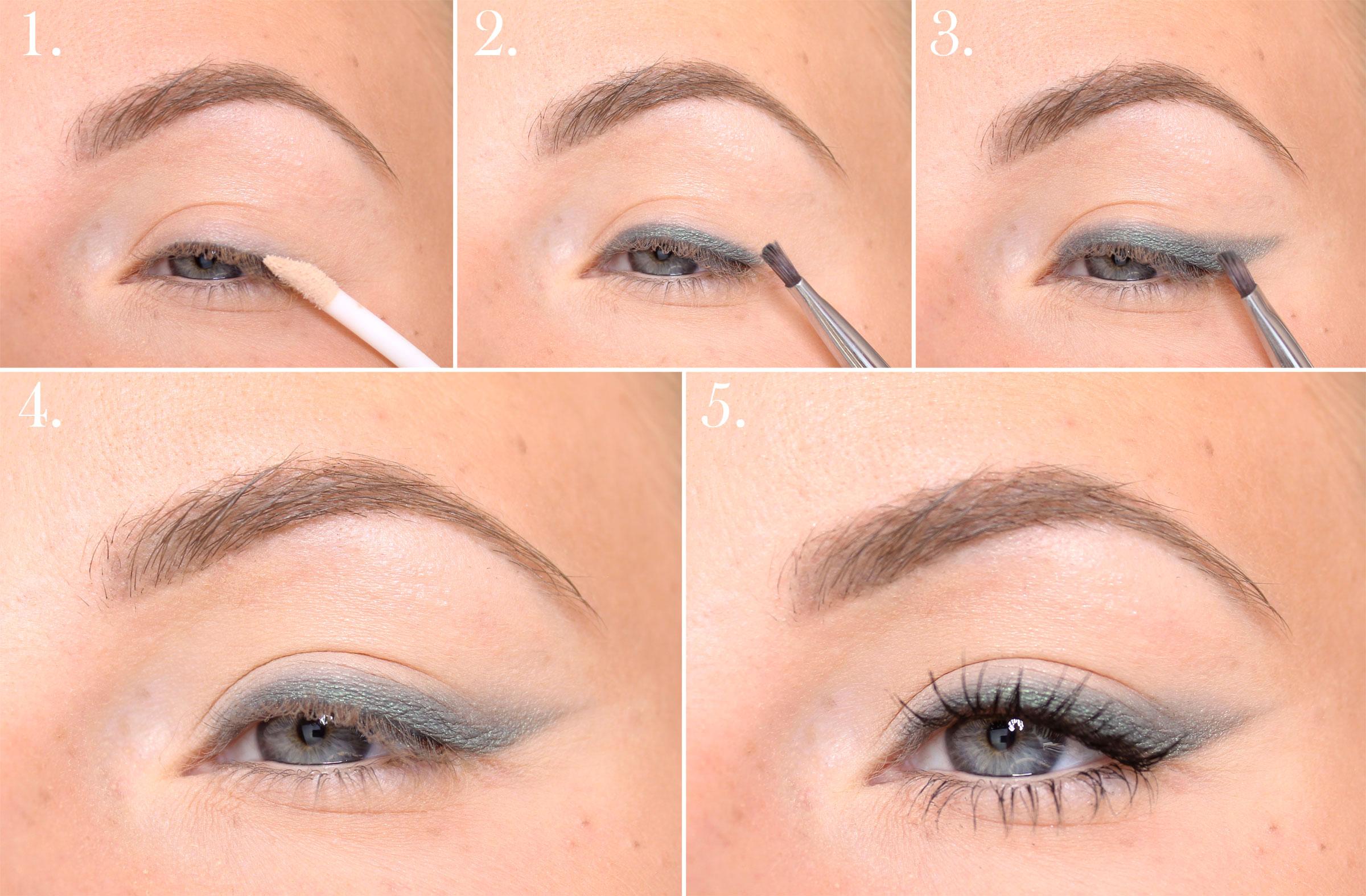 steg för steg ögonskugga