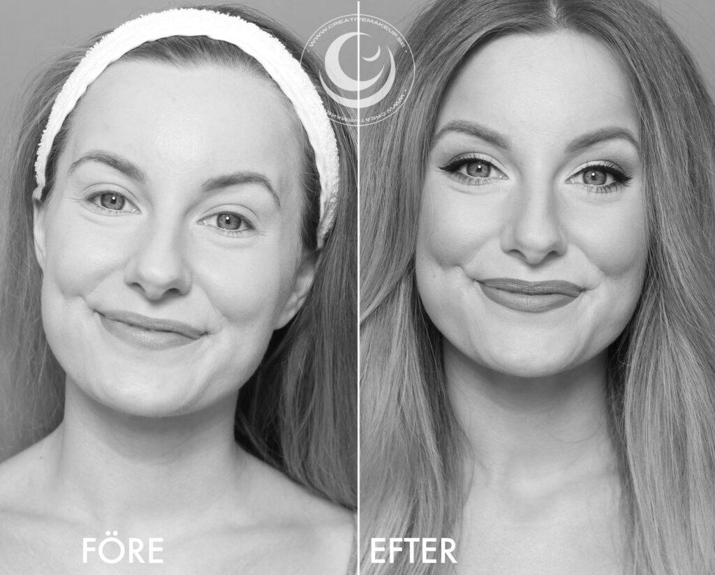 make-up for passport black and white