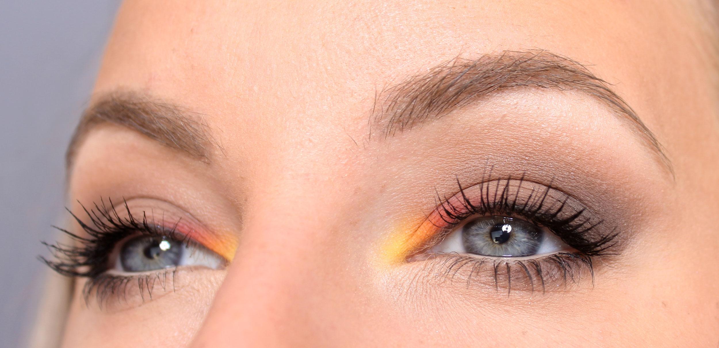 maquillaje de otoño con clics de color