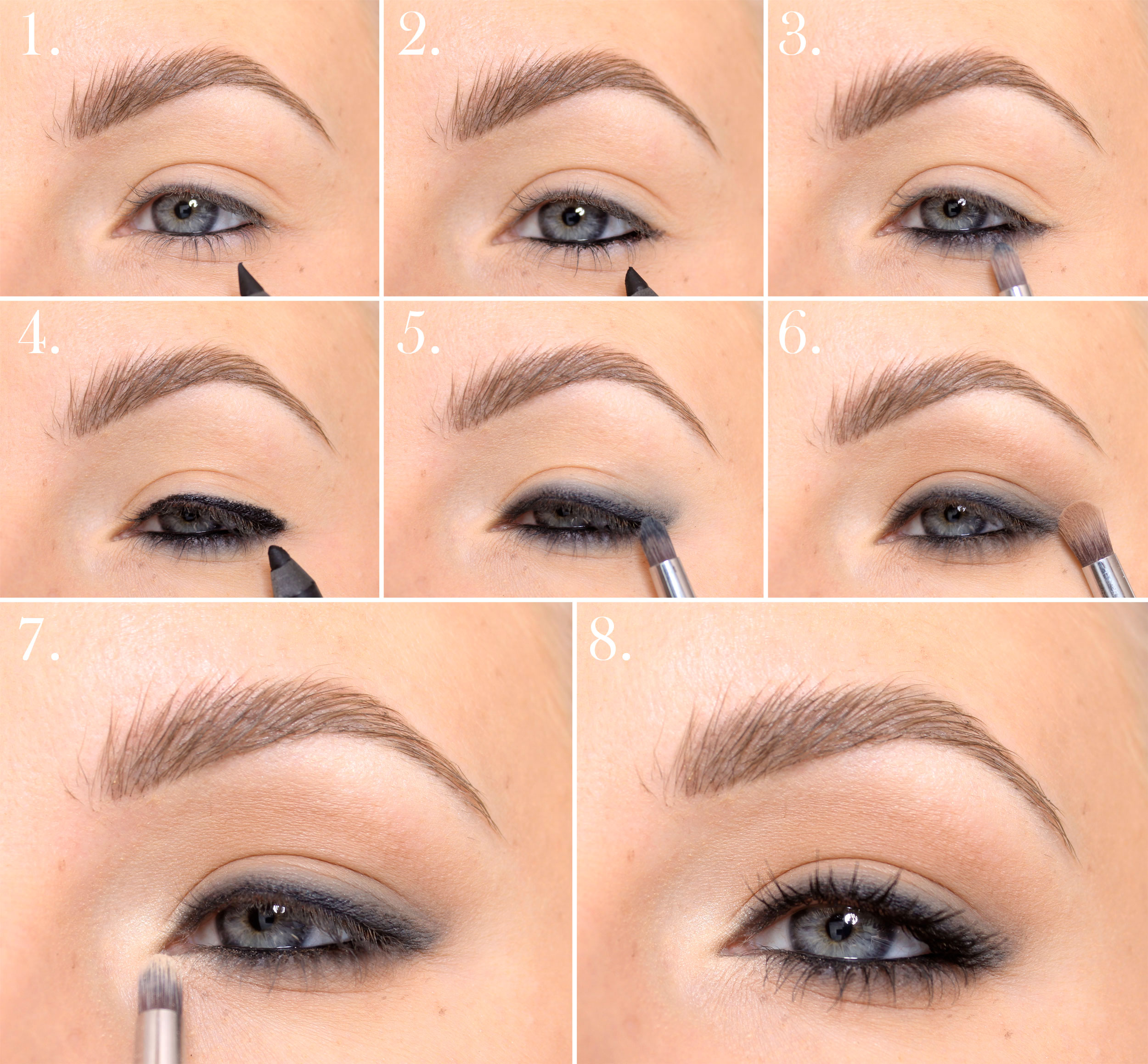 makeup tutorial svart kajalpenna