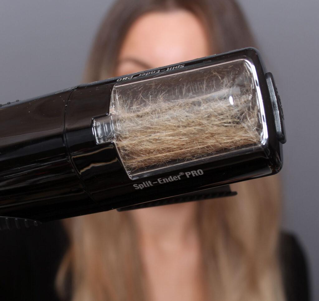 kluvna hårtoppar och slitet hår, slitna längder