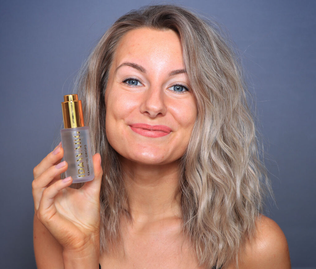 ida warg tanning drops, review, before after, tips, brown without sun face
