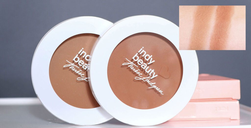 swatch, Indy Beauty - Bring On The Sun! Bronzing Sculpting Powder recension, indy beauty solpuder, indy beauty bronzer