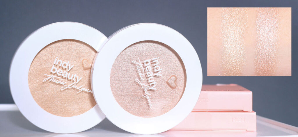 swatch, indy beauty highlighter, Indy Beauty - Ready Set Glow! Highlighter recension