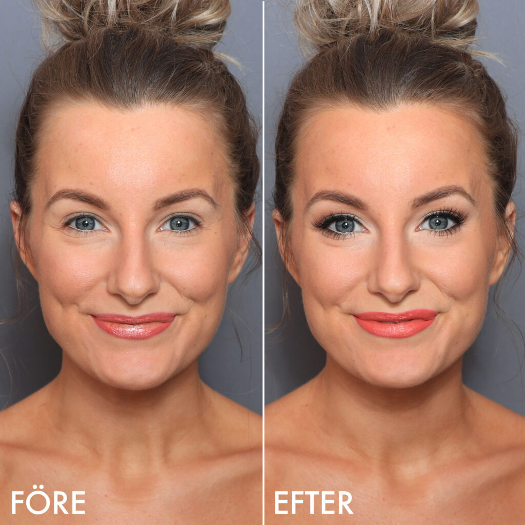 just lashes, Natural make-up with false eyelashes, before and after more lively eyes make-up make-up tips step by step