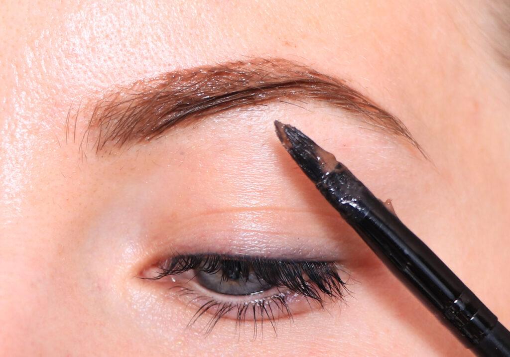 ögon, fransar, bryn, pensel, sminkpensel, syntetborste, hud, öga,